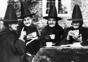 Some LAP groupies having tea before a autograph signing in Salem, Massachusetts.