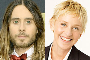 Jared Leto, Ellen DeGeneres eyes