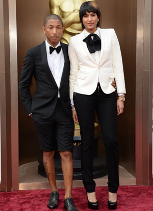 Pharrell Williams Oscars shorts, Helen Lasichanh