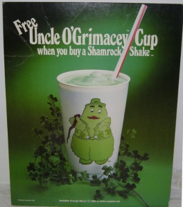 Because drinking a Shamrock Shake out of this won't require the forfeiture of any dignity.