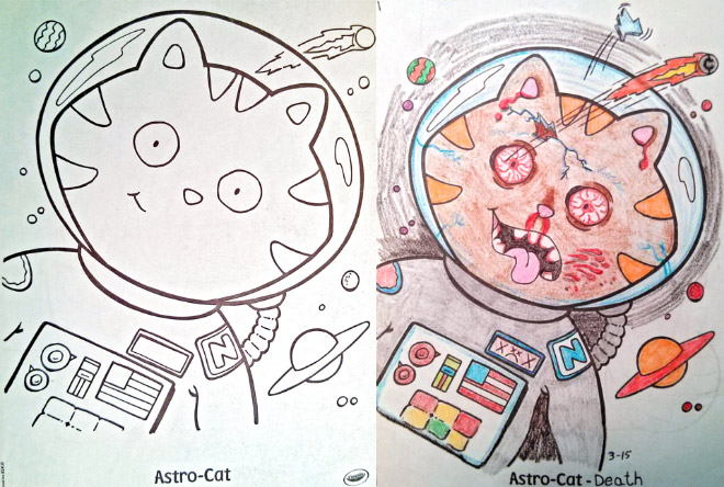 The Saturday Six Corrupted Coloring Book Art
