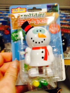 "Because nothing says ""Christmas"" like a constipated-looking snowman who poops candy..."
