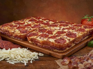 Bacon wrapped pizza