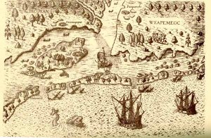 1607, the colonization of Jamestown